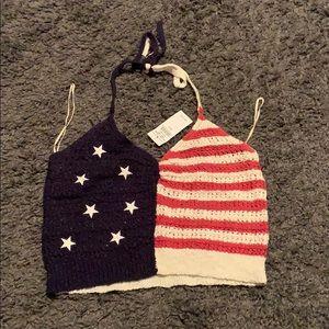 American Crochet Crop Top
